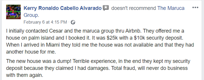 The Maruca Group: I initially contacted Cesar and the maruca group thru Airbnb.